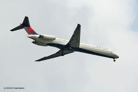 Delta 1474 from Atlanta has MD88 equipment.