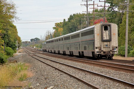 No private cars on the rear of the 15-hour late eastbound Capitol Limited, but it was the first time I've photographed that train in Olmsted Falls.