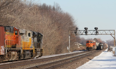 It is one busy railroad at Lewis Road.